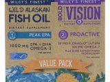 Wiley's Finest, Visão Ousada, Óleo de peixe proativo e selvagem do Alasca, EPA máximo, Pacote de Valor, 550 mg e 1250 mg, 60 Softgels e 30 Softgels