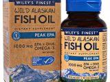 Wiley's Finest, Óleo de Peixe Selvagem do Alasca, EPA de Pico, 1250 mg, 30 Cápsulas Softgel de Peixe