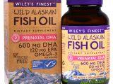 Wiley's Finest, Óleo de Peixe Selvagem do Alasca, DHA Pré-Natal, 600 mg, 180 Cápsulas Softgel de Peixe