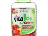 21st Century, Balas de Gelatina Vitajoy, Polivitamínico para Adultos com Vitamina D3 Extra, 120 Balas de Gelatina